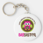 Look Whoos Going to be a Big Sister Owl Keychain