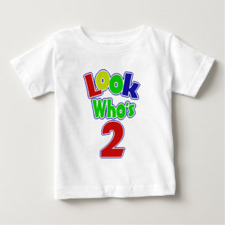 Look Who's 2/ Custom Name Baby T-Shirt