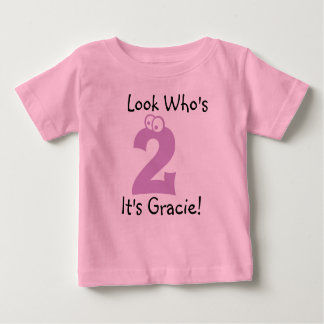 Look Who's 2 Customizable Birthday Tshirt