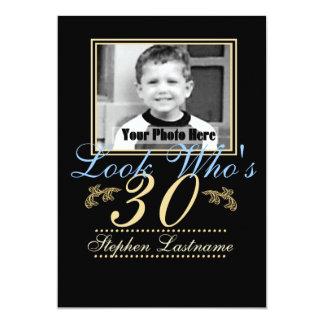 Look Who's 30 Photo 13 Cm X 18 Cm Invitation Card