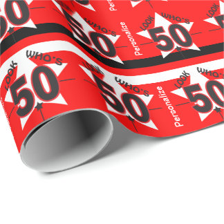 Look Who's 50 | 50th Birthday Wrapping Paper