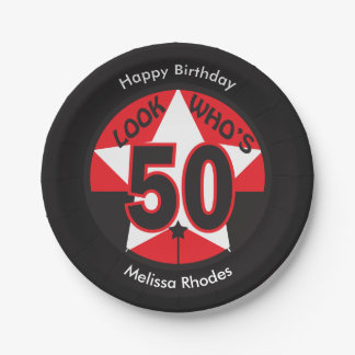 Look Who's 50 Years Old | 50th Birthday Paper Plate