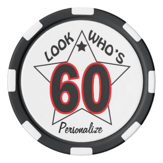 Look Who's 60 | 60th Birthday | DIY Name Poker Chips