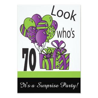 Look Who's 70   70th Birthday 13 Cm X 18 Cm Invitation Card
