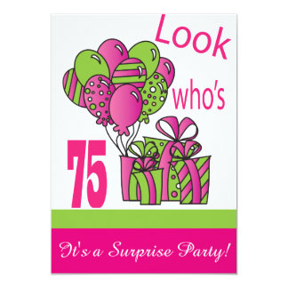 Look Who's 75 | 75th Birthday 13 Cm X 18 Cm Invitation Card