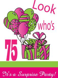75 birthday invitations zazzle uk