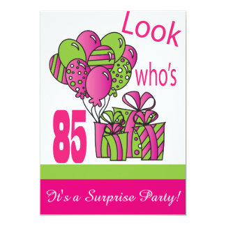 Look Who's 85   85th Birthday 13 Cm X 18 Cm Invitation Card