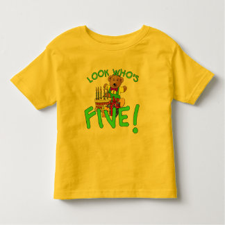 Look Who's Five Years Old! Toddler T-Shirt