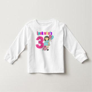 Look who's three birthday t-shirt