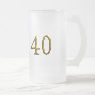 Look Who's Turning 40 Large Frosted Mug