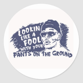 Lookin Like A Fool / Pants On the ground Stickers
