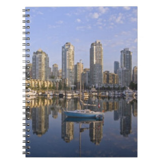 Looking across False Creek at the skyline of 2 Notebook