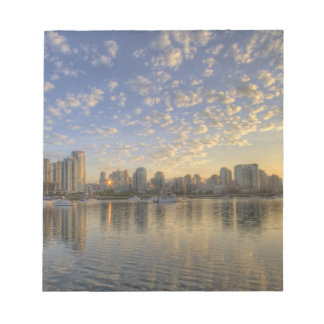 Looking across False Creek at the skyline of Notepad