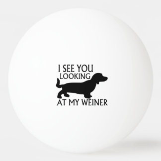 Looking At My Weiner Ping Pong Ball