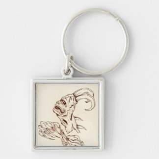 looking but not seeing Silver-Colored square key ring