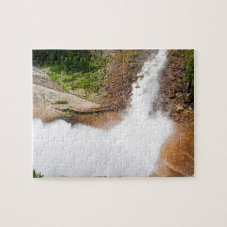 Looking Down from the Top of Nevada Falls Jigsaw Puzzle