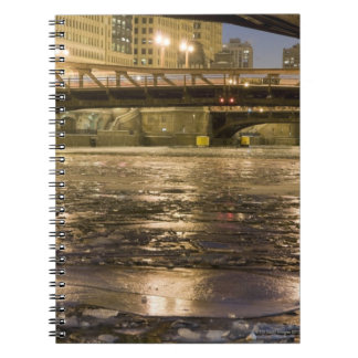 Looking down the frozen Chicago River in Notebooks