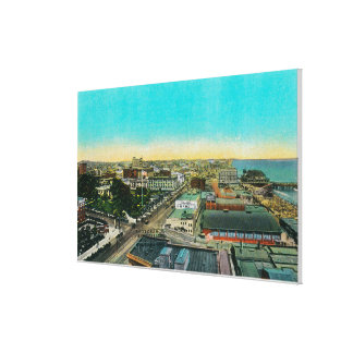 Looking East over Business Section, Long Beach Gallery Wrapped Canvas