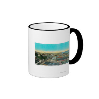 Looking East over Business Section, Long Beach Coffee Mugs
