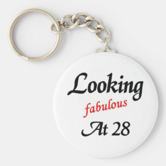 Looking fabulous at 28 basic round button key ring