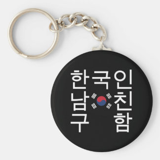 Looking for a Korean Boyfriend 한국인남친구함 Basic Round Button Key Ring