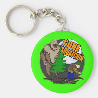 Looking for Bigfoot Basic Round Button Key Ring