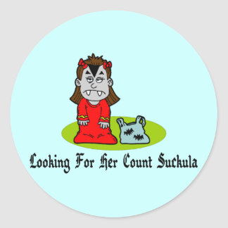 Looking For Count Suckula Round Sticker
