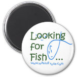 Looking for Fish... Refrigerator Magnet