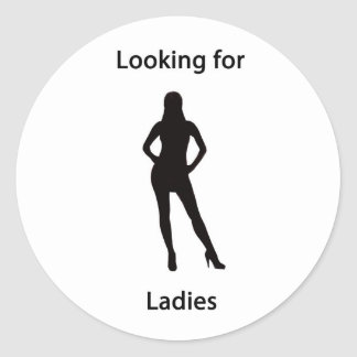 looking for ladies classic round sticker