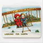 Looking for Santa vintage illustration Mouse Pad