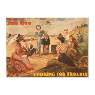 Looking for Trouble - Beach Scene Theatre Canvas Print