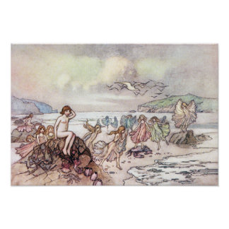 Looking for Water Babies by Warwick Goble Poster