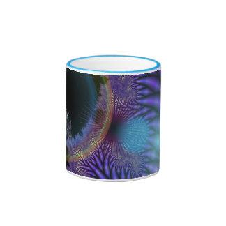 Looking Inward - Black & Azure Mystery Ringer Mug