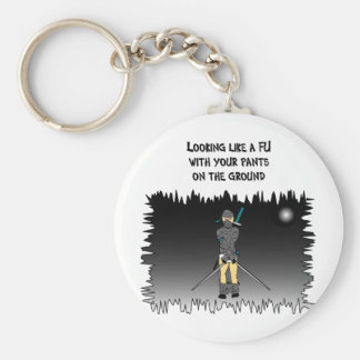 looking like a fool basic round button key ring