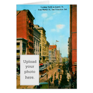 Looking North on Kearny St Greeting Card