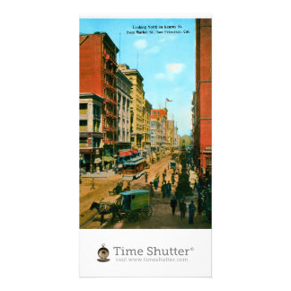 Looking North on Kearny St Photo Card Template
