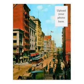 Looking North on Kearny St Postcard