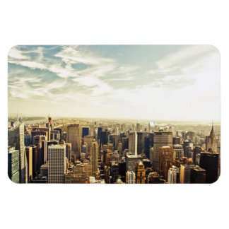 Looking Out Over the New York City Skyline Rectangular Photo Magnet