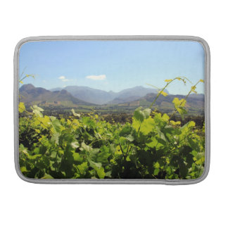 Looking over South Africa's vineyards Sleeve For MacBook Pro