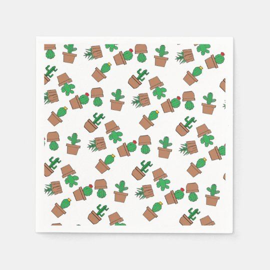 Looking Sharp Cacti Cocktail Paper Napkins