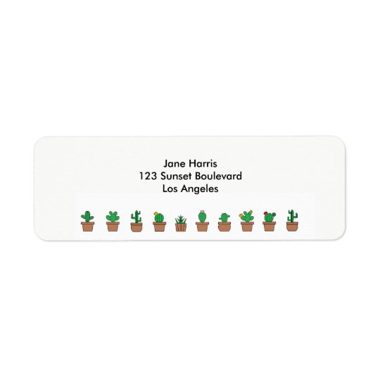 Looking Sharp Cacti Return Address Labels
