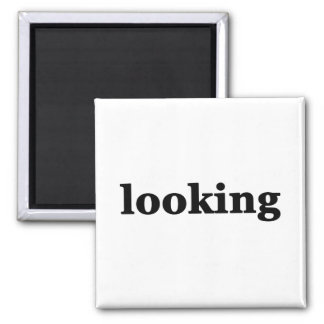 Looking Square Magnet