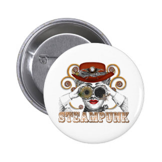 looking steampunked steampunk collage art 6 cm round badge