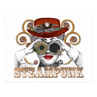 looking steampunked steampunk collage art postcard
