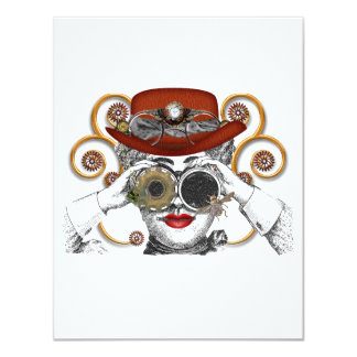 looking steampunked steampunk dude personalized announcement
