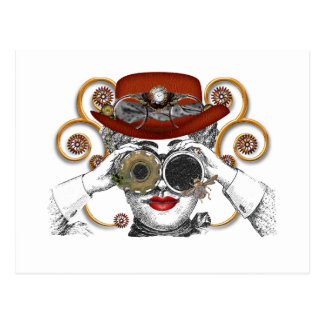 looking steampunked steampunk dude postcard