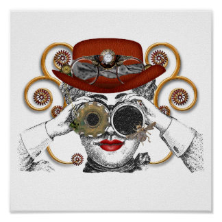 looking steampunked steampunk dude poster