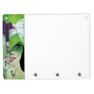 Looking the Other Way Dry Erase Board With Key Ring Holder