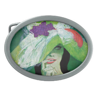 Looking the Other Way Oval Belt Buckles