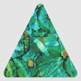 Looking Through Layers Triangle Sticker